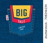 big sale limited time logo... | Shutterstock .eps vector #708246154