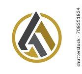 abstract triangle peak logo   Shutterstock .eps vector #708251824