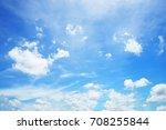 sunshine clouds sky blurred... | Shutterstock . vector #708255844