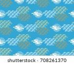 beautiful japanese seamless ... | Shutterstock .eps vector #708261370