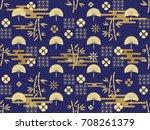 beautiful japanese seamless ...   Shutterstock .eps vector #708261379