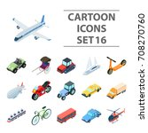 transportation set icons in... | Shutterstock .eps vector #708270760