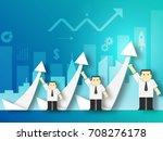 a team of businessman shows... | Shutterstock .eps vector #708276178