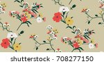 seamless floral pattern in... | Shutterstock .eps vector #708277150