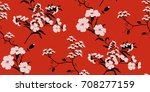 seamless floral pattern in... | Shutterstock .eps vector #708277159