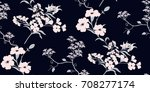 Stock vector seamless floral pattern in vector 708277174