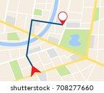 illustration vector of gps city ... | Shutterstock .eps vector #708277660