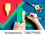 making three dimensional... | Shutterstock . vector #708279583