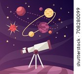 astronomical discoveries.... | Shutterstock .eps vector #708280099