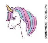 magical unicorn icon | Shutterstock .eps vector #708283393
