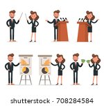 set of businessman and... | Shutterstock .eps vector #708284584