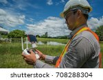 young engineer use drones... | Shutterstock . vector #708288304