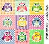 Patchwork Owls Pattern