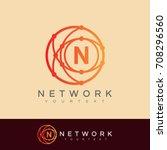 network initial letter n logo... | Shutterstock .eps vector #708296560