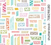 colorful  strips of decorative... | Shutterstock .eps vector #708298180