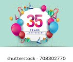 35th years anniversary... | Shutterstock .eps vector #708302770