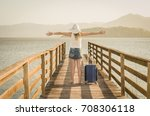 great vacation concept. young...   Shutterstock . vector #708306118