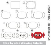 kid game to develop drawing... | Shutterstock .eps vector #708310534