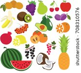 fruit elements set  collection... | Shutterstock .eps vector #708310576