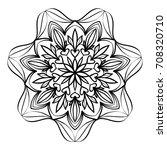 floral mandala decorative...   Shutterstock . vector #708320710