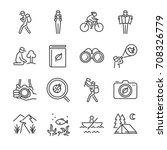 eco tourism line icon set.... | Shutterstock .eps vector #708326779