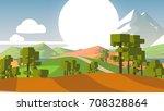 cartoon landscape. rural area....   Shutterstock . vector #708328864