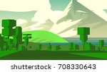 cartoon landscape. rural area.... | Shutterstock . vector #708330643