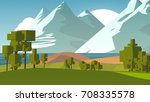 cartoon landscape. rural area.... | Shutterstock . vector #708335578