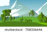 cartoon landscape. rural area.... | Shutterstock . vector #708336646