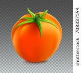 red whole tomato isolated on... | Shutterstock .eps vector #708337594
