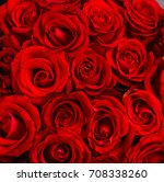Stock photo red roses background 708338260