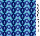 ethnic blue seamless pattern.... | Shutterstock .eps vector #708340360