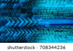 binary circuit future... | Shutterstock . vector #708344236