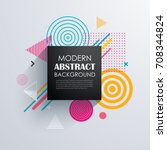 Abstract geometric pattern design and background. Use for modern design, cover, template, decorated, brochure, flyer. | Shutterstock vector #708344824