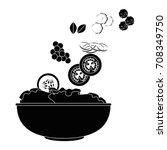 salad bowl gourmet | Shutterstock .eps vector #708349750