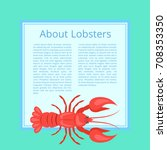 about lobsters  banner...   Shutterstock .eps vector #708353350