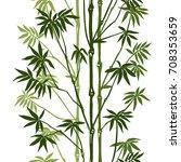 green bamboo seamless vertical...   Shutterstock .eps vector #708353659