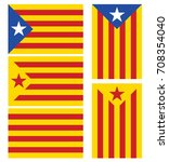 catalonia flags set. vector. | Shutterstock .eps vector #708354040