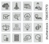 seo development icon set vector   Shutterstock .eps vector #708357970