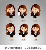 businessperson with different... | Shutterstock .eps vector #708368530