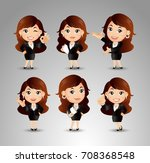 businessperson with different... | Shutterstock .eps vector #708368548