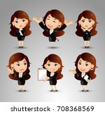 businessperson with different... | Shutterstock .eps vector #708368569