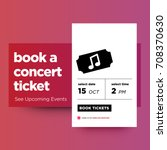 book a concert ticket  see... | Shutterstock .eps vector #708370630