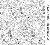 seamless black and white...   Shutterstock .eps vector #708371950