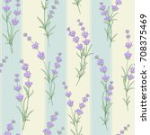 seamless pattern of lavender... | Shutterstock .eps vector #708375469