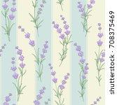 seamless pattern of lavender... | Shutterstock .eps vector #708375469