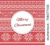 merry christmas card template... | Shutterstock .eps vector #708377530