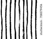 hand drawn monochrome black and ... | Shutterstock .eps vector #708379456