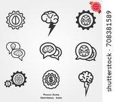 brainstorming icons vector | Shutterstock .eps vector #708381589
