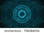 abstract circle technology... | Shutterstock .eps vector #708386056